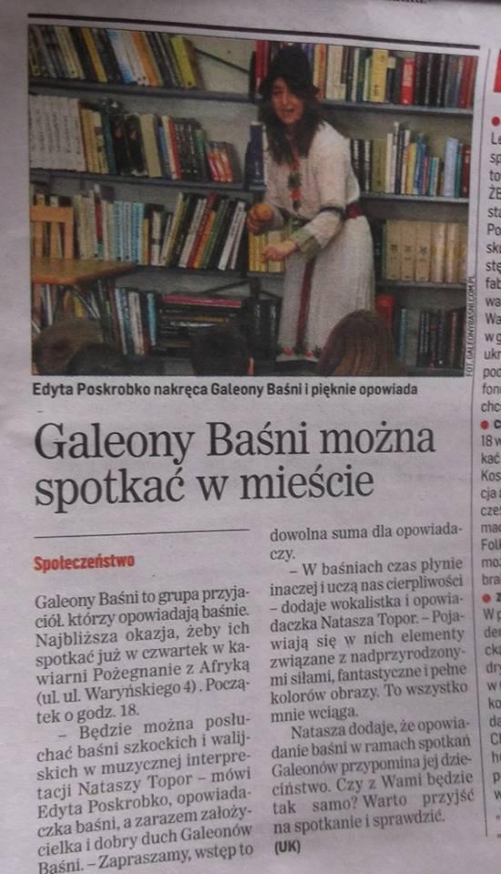 Info o wystepie GAleonow
